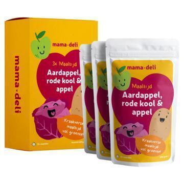 Mama deli Rode kool, appel & aardappel 12+ mnd (3 × 200g)