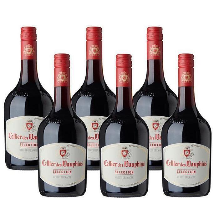 Les Dauphins Cellier des Dauphins Selection rouge (6 × 0.75L)