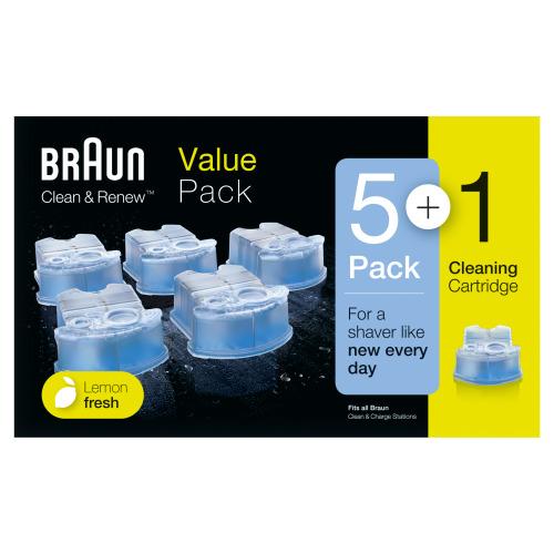 Braun Clean & Renew Reinigingsvloeistof Scheerapparaat 5+1-pack