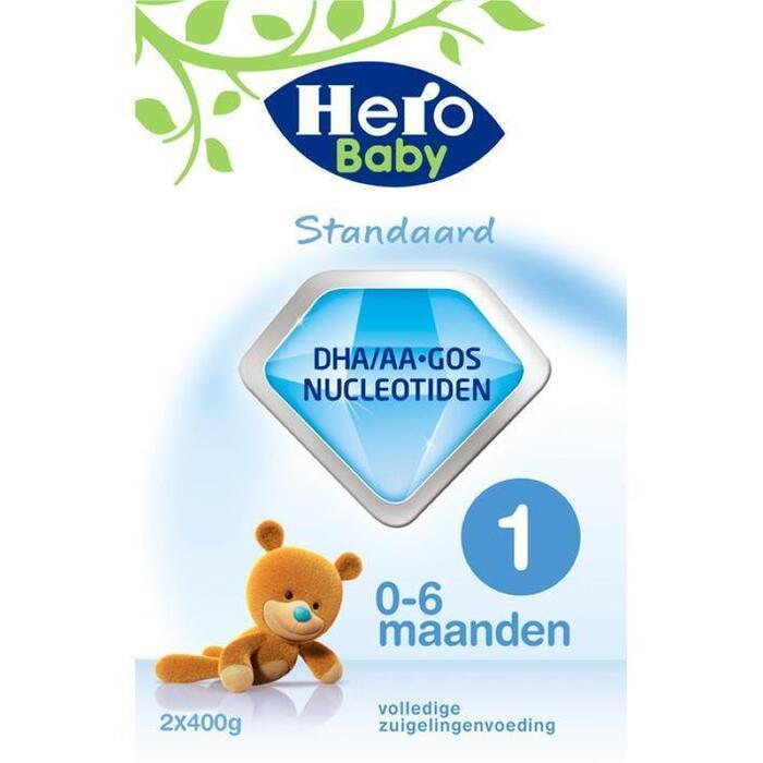 Hero Baby Standaard 1 (2 x 400 g) (Stuk, 2 × 800g)
