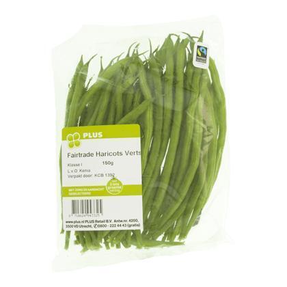 Fairtrade Haricots Verts (bakje, 150g)