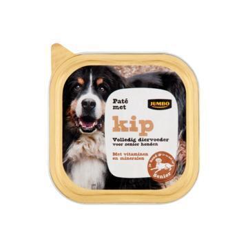 Jumbo Paté met Kip voor Senior Honden 150 g (150g)
