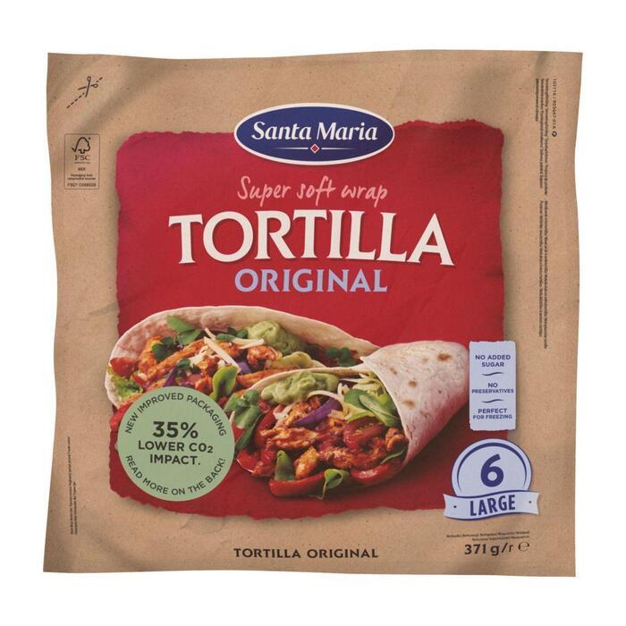 Santa Maria Original wrap tortilla (371g)