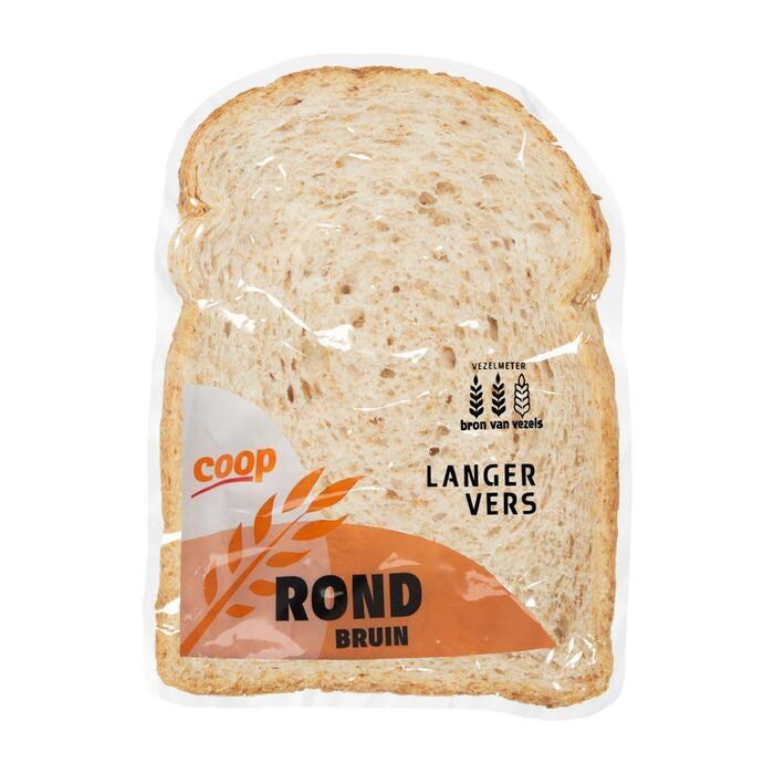 Rond bruin brood half (400g)