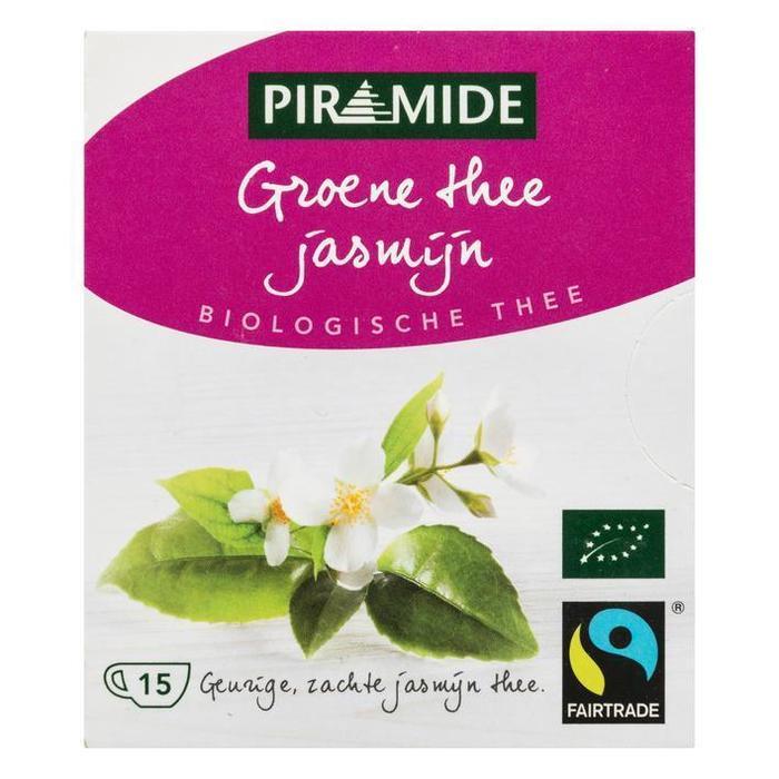 Piramide Groene thee jasmijn (15 × 1.3g)