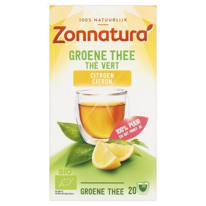 Zonnatura Groene Thee Citroen 20 Zakjes 30 g (20 × 30g)