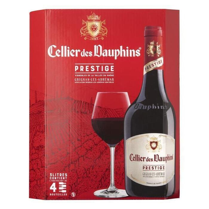 Les Dauphins Cellier des dauphins rouge wijntap (3L)