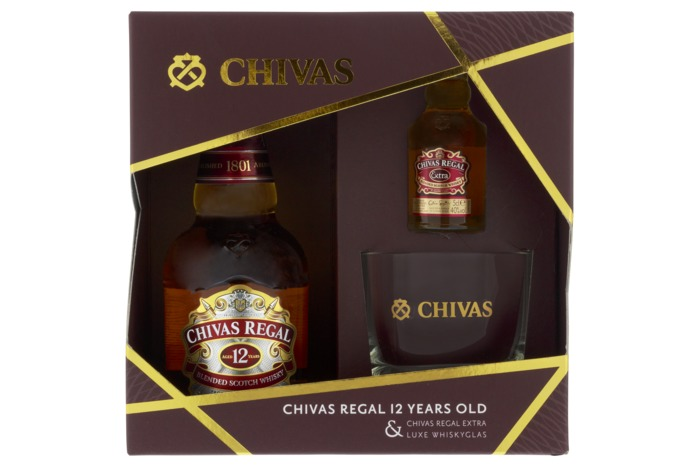 Chivas Regal 12Y 0.35L + Glasspack (40cl)