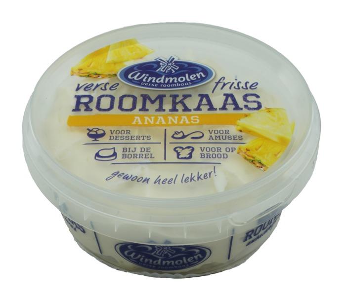 Roomkaas ananas (kuipje, 125g)