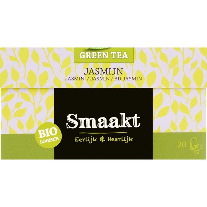 Smaakt Biologisch Green Tea Jasmijn 20 x 1,5 g (zakjes, 20 × 1.5g)