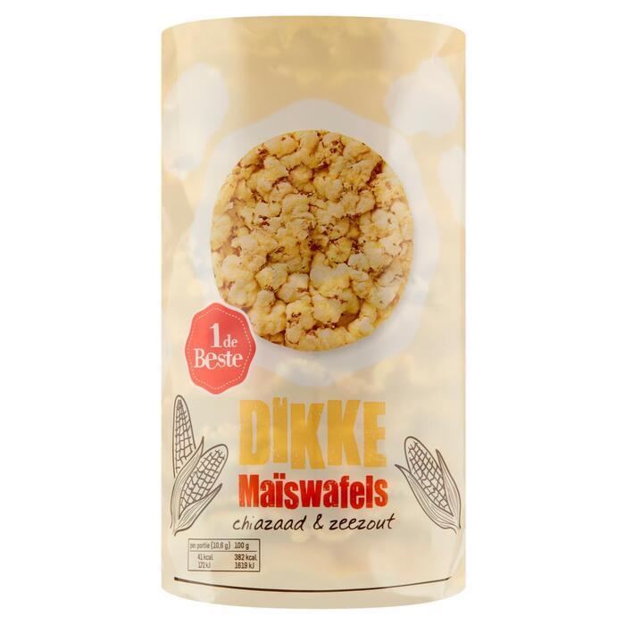 Dikke maiswafels met zeezout (138g)