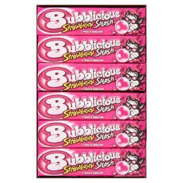 Bubblicious Strawberry Splash Bubblegum 5 x 18 Stuks (18 × 38g)