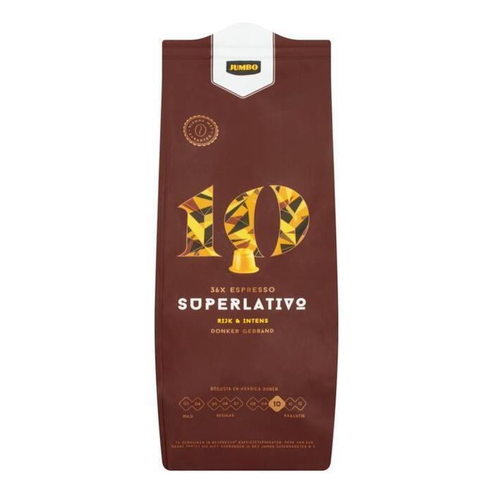 Jumbo 10 Superlativo Espresso 36 Stuks 187, 2g (187g)