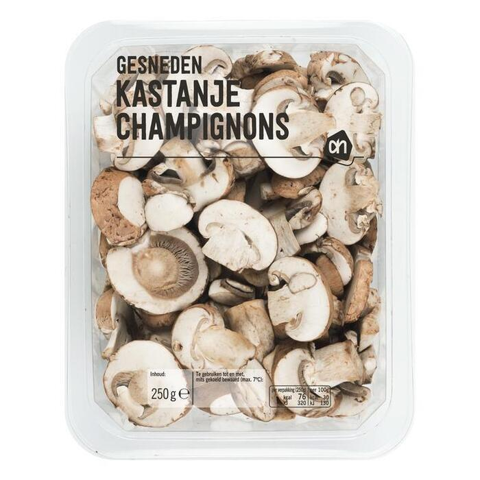 Gesneden kastanje champignons (zak, 250g)