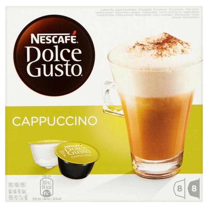 Dolce Gusto, cappuccino (doos, 8x2 cups) (Stuk, 16 × 186g)