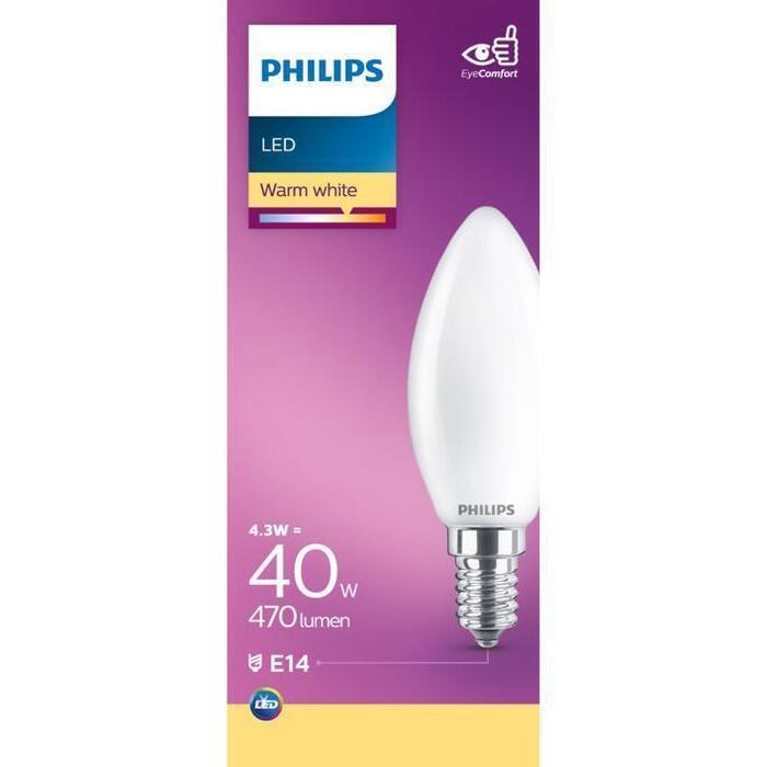 Philips Mat kaars E14 40W