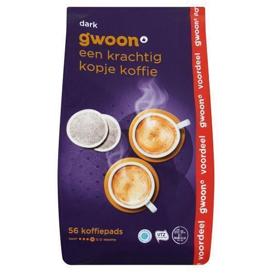 g'woon Koffiepads dark (56 × 392g)