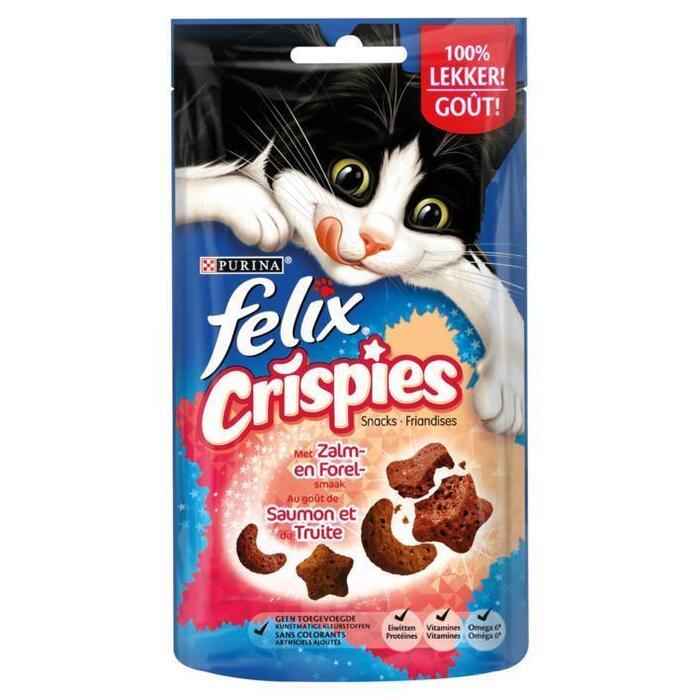 Felix Crispies Snacks met Zalm en Forel Smaak 45 g (45g)