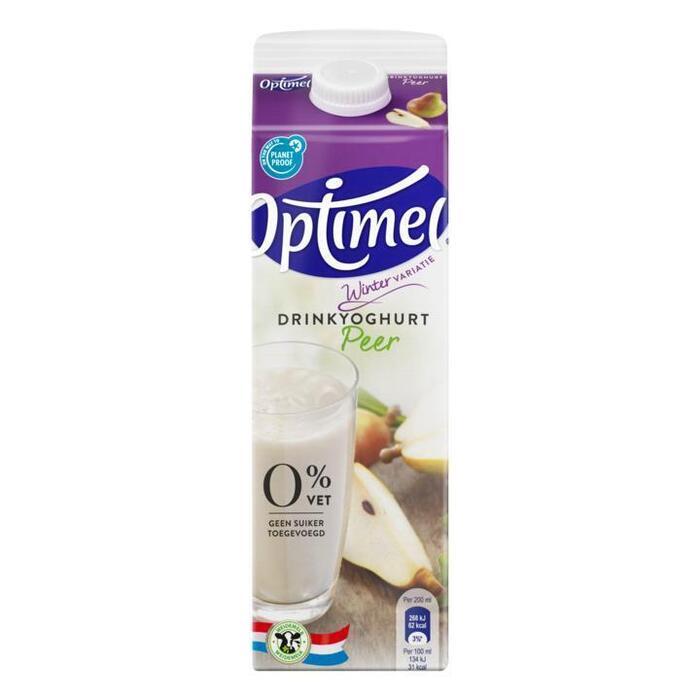 Optimel drinkyoghurt Seizoensvariatie Rode vruchten Munt (Stuk, 1L)