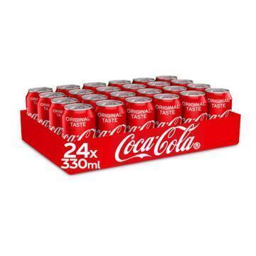 Coca-Cola Regular tray (blik, 24 × 33cl)