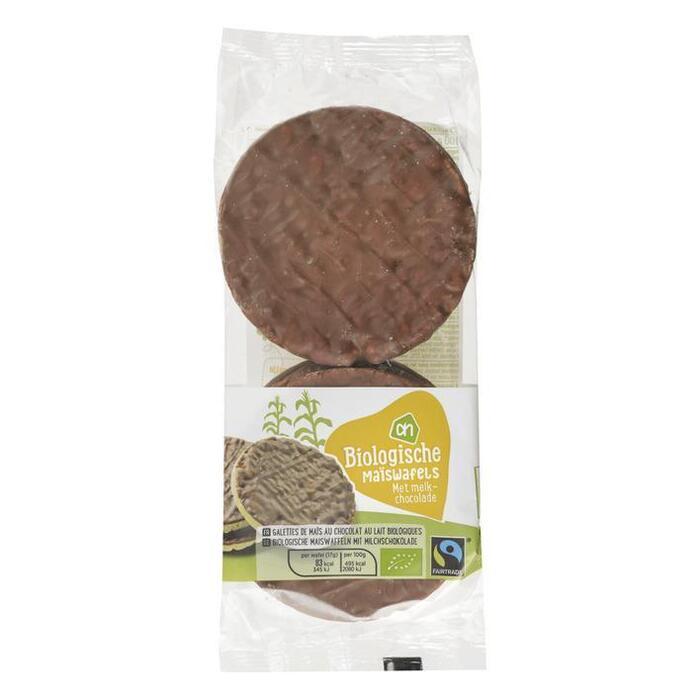 AH Biologisch Maïswafels met melkchocolade (100g)