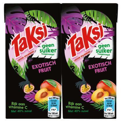 Taksi Exotisch Fruit Geen Suiker Toegevoegd 10 x 200ml (10 × 200ml)