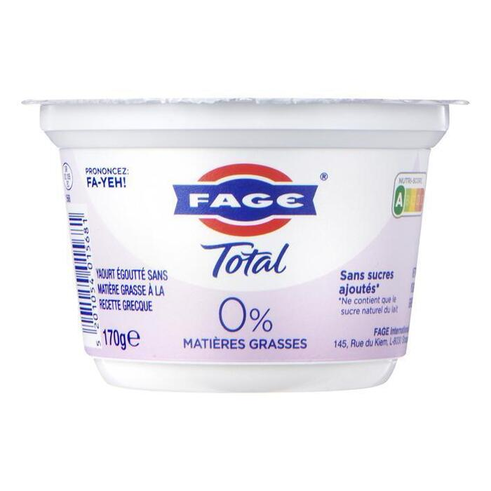 Fage Total Griekse yoghurt 0% (170g)