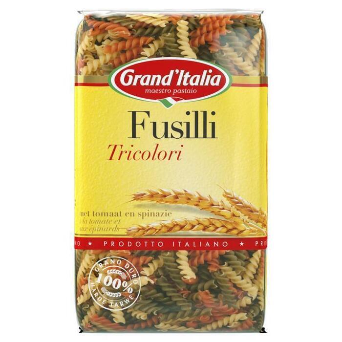 Grand'Italia Fusilli Tricolori 500 g (Stuk, 500g)
