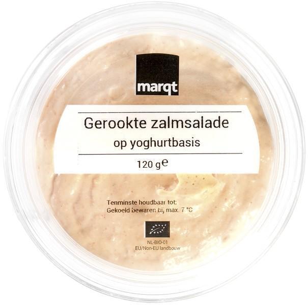 Gerookte zalmsalade op yoghurtbasis (120g)