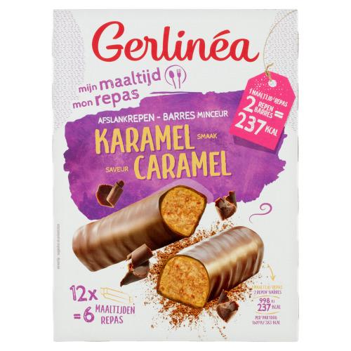 Gerlinéa Mijn Maaltijd Reep met Melkchocolade en Karamelsmaak 12 x 31 g (31g)