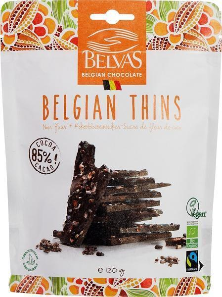 Belgian thins puur met kokosbloesemsuiker (120g)