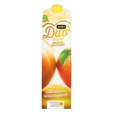 Jumbo Duo Drank Abrikoos Sinaasappel 1 L (1L)