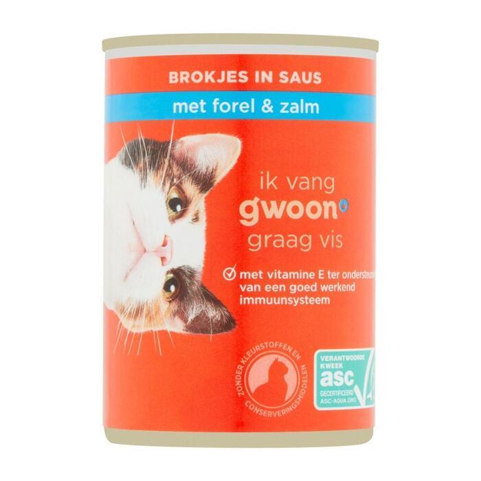 g'woon Brokjes in gelei met zalm & forel (415g)