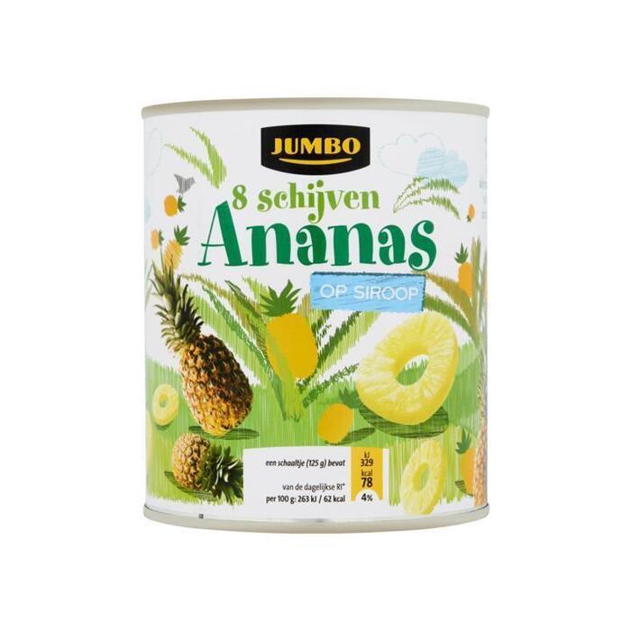 Ananas op Siroop 8 Schijven (blik, 825g)
