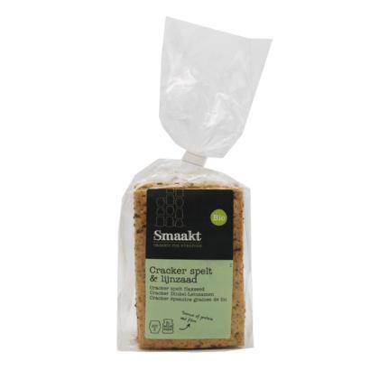Bio Spelt Crackers met lijnzaad (zak, 250g)