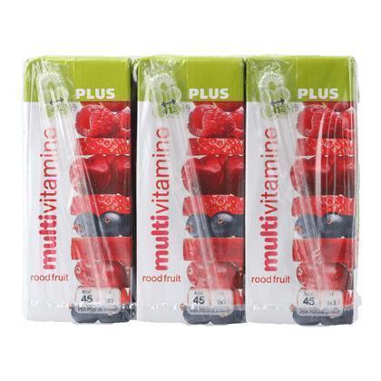 Multivitamine rode vruchten 6x200ml (6 × 200ml)