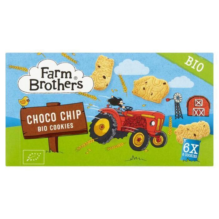 Farm Brothers Choco Chip Bio Cookies 6 Stuks 102 g (102g)