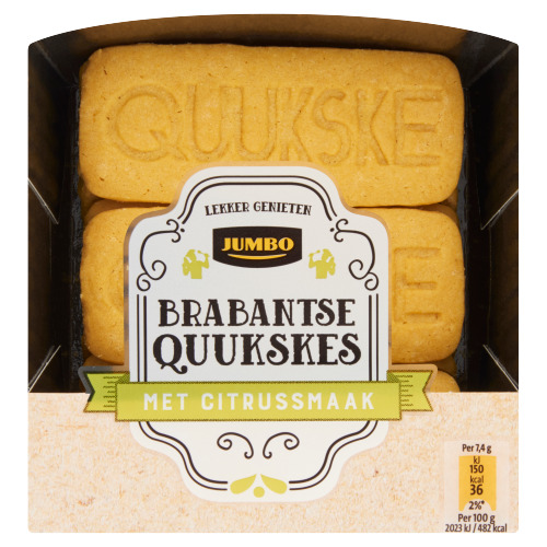 Jumbo Brabantse Quukskes met Citrussmaak 140 g (140g)