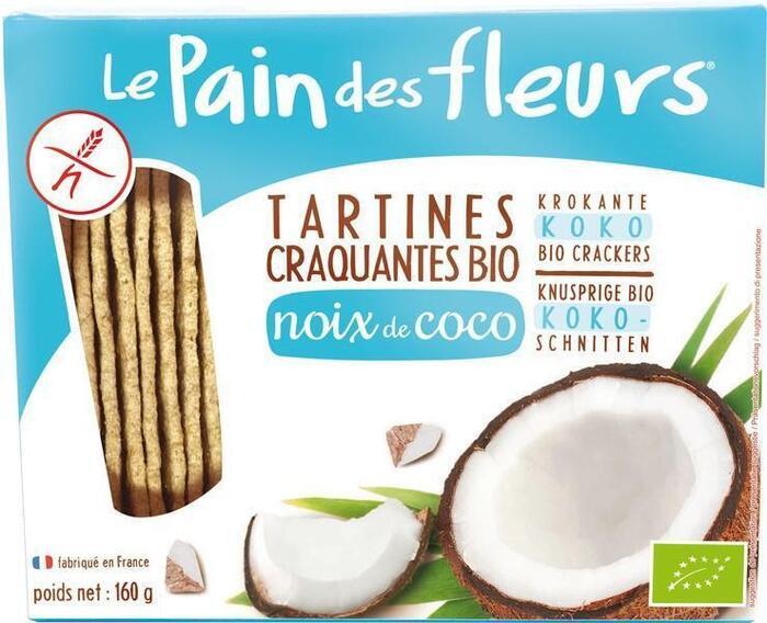 Kokos crispbread (doos, 150g)