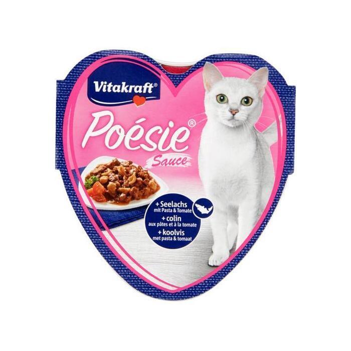 Vitakraft Poésie Sauce Koolvis met Pasta & Tomaat 85g (85g)