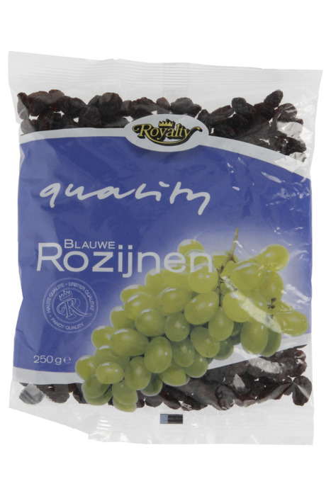 Blauwe rozijnen (Zak, 250g)