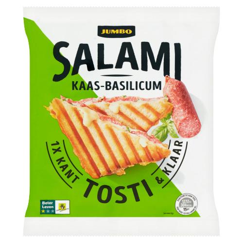 Jumbo Salami Kaas-Basilicum Tosti Kant & Klaar 105 g (105g)