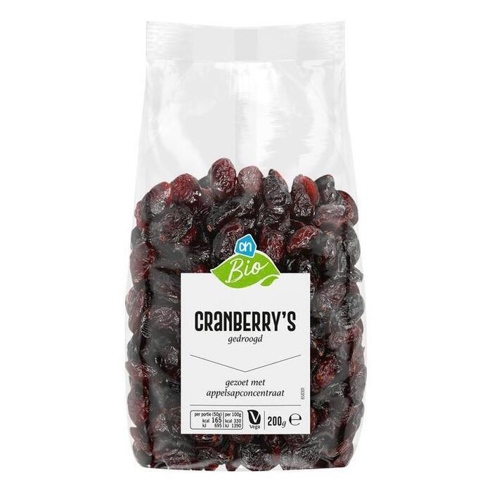 AH Biologisch Cranberries (200g)