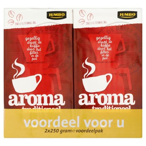 Jumbo Snelfiltermaling Aroma Traditioneel Voordeel voor U 2 x 250g (2 × 250g)