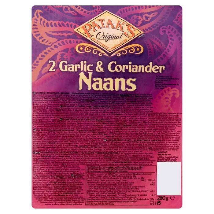 Patak's naanbread Garlic coriander 280g (2 × 280g)
