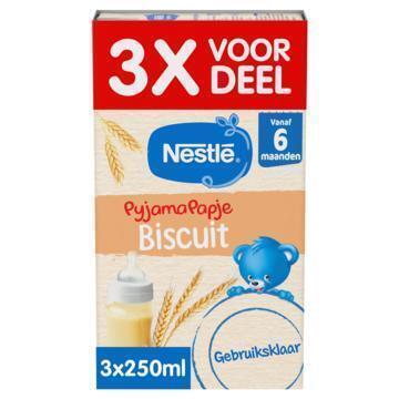 Nestlé Pyjamapapje biscuit voordeel (3 × 250ml)