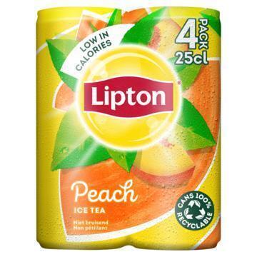 Lipton Ice Tea Peach 4 x 250 ml (4 × 250ml)