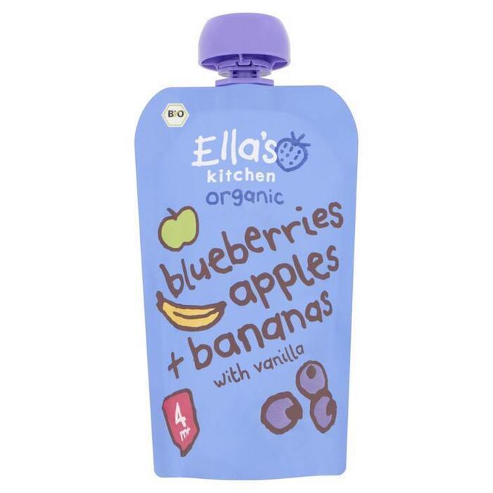 Ella's Kitchen Blueberries apples bananas 4+ bio (120g)