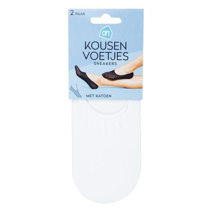 AH Kousenvoet sneakers katoen wit mt 39-42
