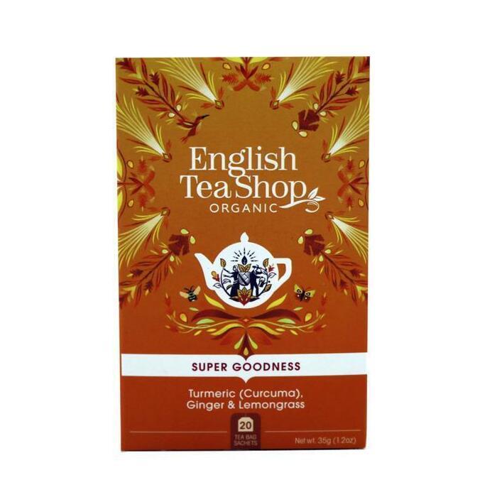 English Tea Shop Tea turmeric, ginger & lemongrass bio (20 × 35g)